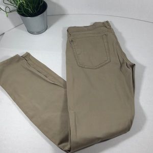 7 For All Mankind Tan Skinny Pants S 27
